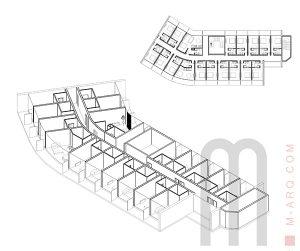 estudo conceptual para remodelção de hotem na guiné por m.arq