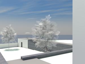 Moradia de adobe com estrutura metálica em angola, solução de arquitectura de baixo custo de construção.