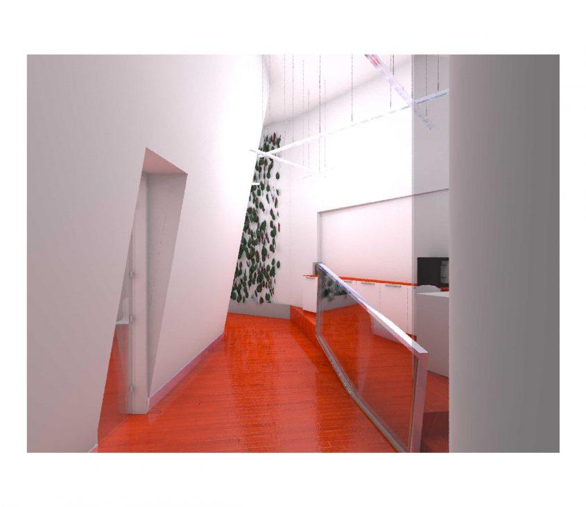 Atrio central escritorio devo m-arquitectura